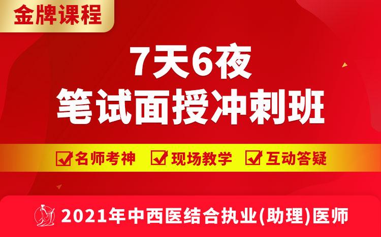 2021中西医执业(助理)医师7天6夜笔试面授冲刺班(视频)